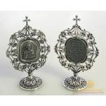 Серебряная Настольная Икона Спаситель 61290 , Gold &amp Silver Gold & Silver, Украина