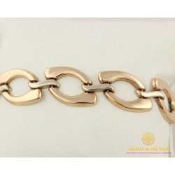 Золотой Браслет 585 проба. Женский браслет с красного и белого золота, Ролекс. 870032