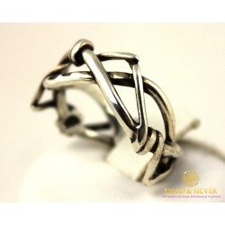 Серебряное Кольцо 925 проба. Кольцо Терновый Венец. 1421