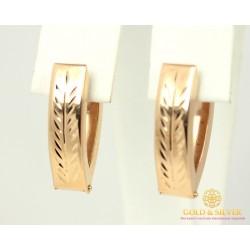 Золотые Серьги 585 проба. Женские серьги с красного золота, Без Вставок 2,59 грамма 470332