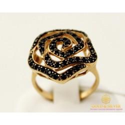 Золотое кольцо 585 проба. Женское Кольцо с красного золота Цветок, вес 5,69 грамма.  kv71110i
