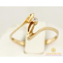 Золотое кольцо 585 проба.  Женское Кольцо 1,2 грамма. kv043i