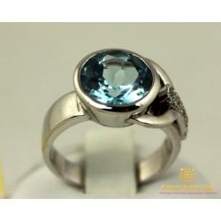 Золотое кольцо 585 проба. Женское Кольцо Топаз Белое Золото 11333