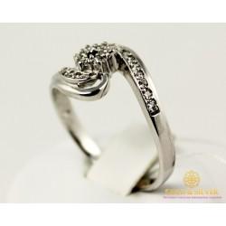 Золотое кольцо 585 проба. Женское Кольцо с белого золота. 3,09 грамма. kv494010i
