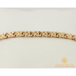 Золотой Браслет 585 проба. Браслет с красного золота, дутый Унисекс 810043
