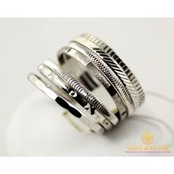 Золотое кольцо 585 проба. Женское Кольцо с белого золота Неделька. 5,33 грамма. ok054b