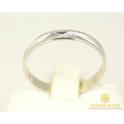 Золотое кольцо 585 проба. Обручальное Кольцо с белого золота.  ok038b