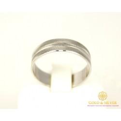 Золотое кольцо 585 проба. Обручальное Кольцо с белого золота, широкое. ok115be