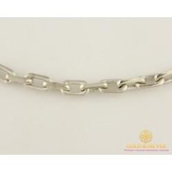 Серебреная Цепь 925 проба. Мужская серебряная цепь, плетение Якорь 55 сантиметров 5069