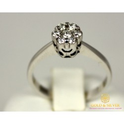 Золотое Кольцо 585 проба. Женское кольцо Мари с белого золота, с вставкой Бриллиант. 11520