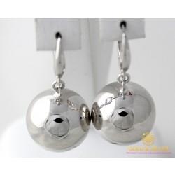 Серебряные Серьги 925 проба. Женские серебряные серьги Шар 470133с
