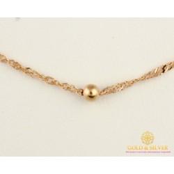 Золотая цепь 585 проба. Женская золотая Цепочка Диско с алмазной гранью 592912051(40)