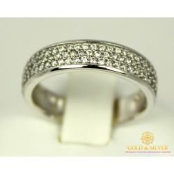Золотое кольцо 585 проба. Женское Кольцо с белого золота. 3,42 грамма. kv446Bi