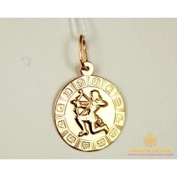 Золотой Кулон 585 проб. Подвес с красного золота, Знак Зодиака Стрелец pb208i