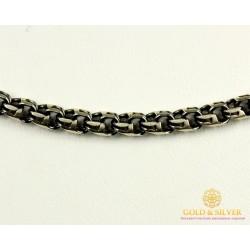 Серебряная Цепь 925 проба. Серебряная мужская цепь, плетение Бисмарк Круглый, 50511
