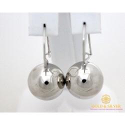 Серебряные Серьги 925 проба. Серьги серебряные женские шары 470129с