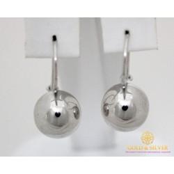Серебряные Серьги 925 проба. Серьги шары серебряные женские 470103с