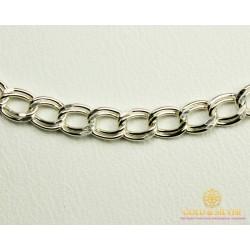 Серебряная Цепь 925 проба. Цепочка серебряная, плетение Двойной Якорь 55 сантиметров. 90103205041