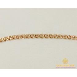 Золотой браслет 585 пробы. Женский браслет плетение Нона 50220204041 18 размер