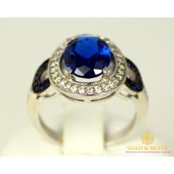 Серебряное кольцо 925 проба. Женское Кольцо Антуанетта с вставкой Сапфир 16639р