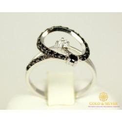 Золотое кольцо 585 проба. Женское Кольцо с белого золота, 2,5 грамма, 17,5 размер 320119
