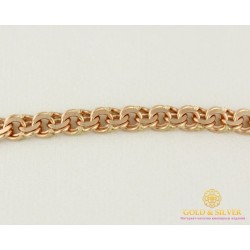 Золотой Браслет 585 проба. Браслет плетение Бисмарк 889026