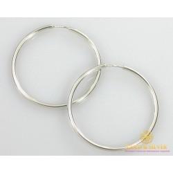 Серебряные Серьги 925 проба. Женские серебряные серьги без вставок кольца (конго) 48 мм. 6,9 грамма 2504