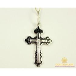 Серебряный Крест Эмаль черная 3,59 грамма 150