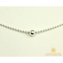 Серебряная цепь 925 проба. Женская серебряная цепочка, плетение диско шарики 25100ш