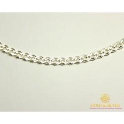 Серебряная Цепь 925 проба. Цепочка серебряная, плетение Нона 60 см. 901020206041