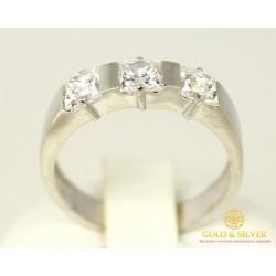 Серебряное кольцо 925 проба. Женское серебряное Кольцо кристалл Swarovski 3,5 грамма 1760