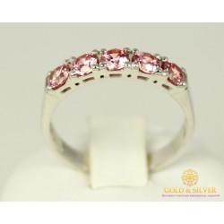 Серебряное кольцо 925 проба. Женское серебярное Кольцо с вставкой кристалл Swarovski 1804fp