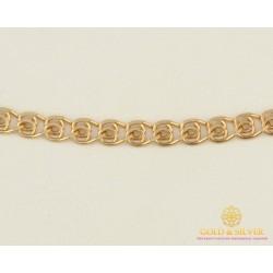 Золотая Цепь 585 проба. Женская цепочка с красного золота, Лав (Love), 50 сантиметров 50123103041