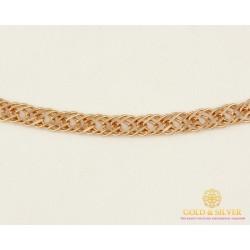 Золотая Цепь 585 проба. Цепочка с красного золота, плетение Тройной Ромб, 55 сантиметров 50133303041(55)