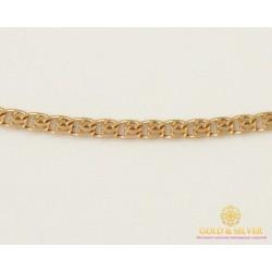 Золотая Цепь 585 проба. Женская золотая Цепочка Лав (Love), 45 сантиметров. 50123102541(45)