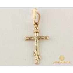 Золотой Крестик Красное и белое золото 0,92 грамма 222023
