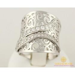 Серебряное кольцо 925 проба. Женское Кольцо 6,54 грамма, широкое. 330762с