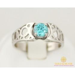 Серебряное кольцо 925 проба. Женское Кольцо с вставкой кристалл Swarovski (Сваровски) 1858mgr