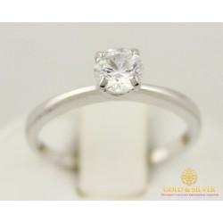 Золотое кольцо 585 проба. Женское Кольцо с белого золота с вставкой Swarovski Zirconia (Сваровски). 1,97 грамма. кв339бси