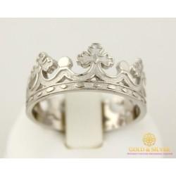 Серебряное Кольцо 925 проба. Кольцо Корона без камней 1886/1