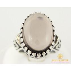 Серебряное Женское кольцо 925 пробы. Кольцо серебряное с вставкой Раухтопаз к215