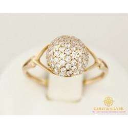 Золотое кольцо 585 проба. Женское кольцо 1,56 грамма. 16,5 размер. 10587