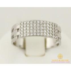 Серебряное женское кольцо 925 проба. Кольцо женское россыпь камней. 380088с