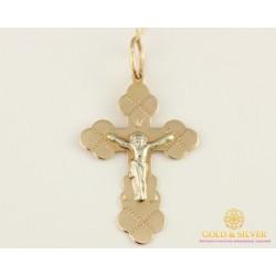 Золотой Крест 585 проба. Крест Белое и Красное золото 230054