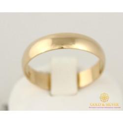 Золотое кольцо 585 проба. Обручальное Кольцо классическое с красного золота. ok015