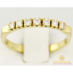 Золотое Кольцо 750 проба. Женское кольцо 750 проба с бриллиантом. 1025130