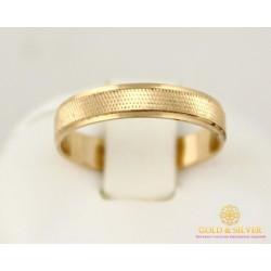 Золотое кольцо 585 проба. Обручальное Кольцо классическое с красного золота. ok102