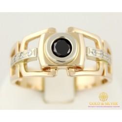 Золотое кольцо 585 проба. Мужское кольцо с красного и белого золота. 7,99 грамма. pch041i