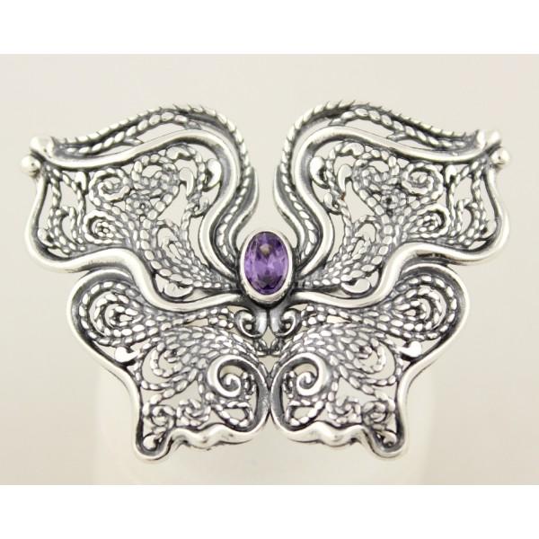 Серебряное кольцо 925 проба. Женское кольцо Бабочка. 10,4 грамма. 1299 , Gold &amp Silver Gold & Silver, Украина