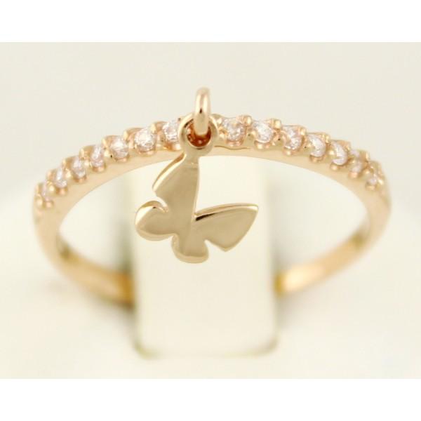 Золотое кольцо 585 проба. Женское кольцо с красного золота, Бантик. кв933.4и , Gold & Silver Gold & Silver, Украина